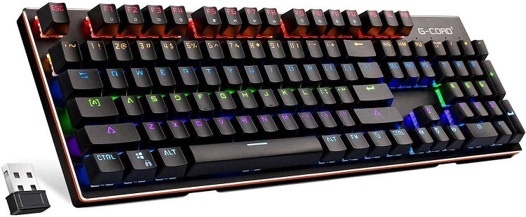 G-Cord Wireless Mechanical Keyboard with LED Backlit 2.4G Connection