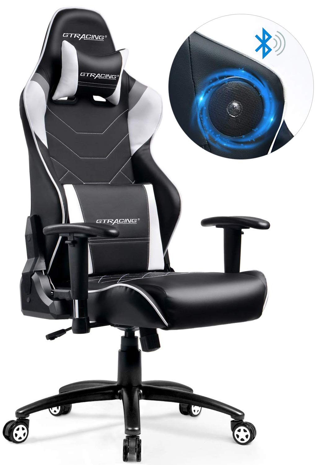 GTRACING Music Gaming Chair  sc 1 st  Game Gavel & Best Gaming Chair with Speakers: No More Wires! - Game Gavel