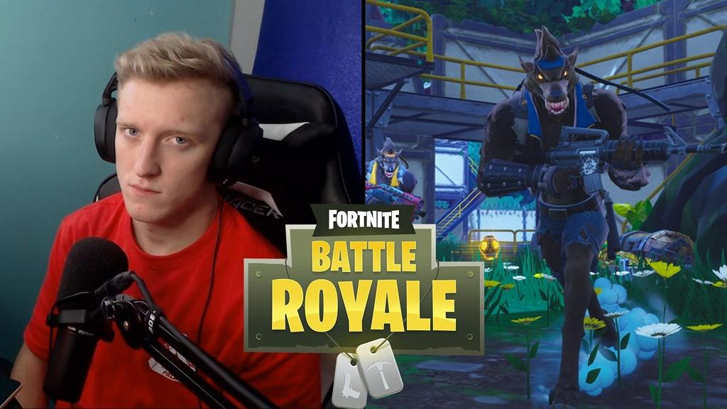Tfue Playing Fortnite Battle Royale Splitscreen Looking Into The Camera Wolfman Running (copy)