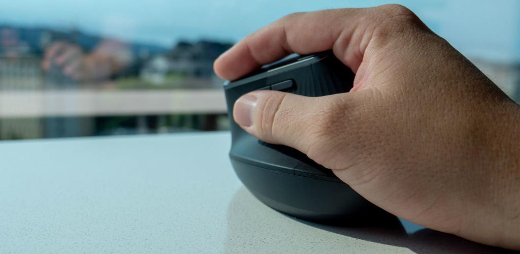Hand Resting Comfortably on Gaming Mouse with Ergonomic Side Grips