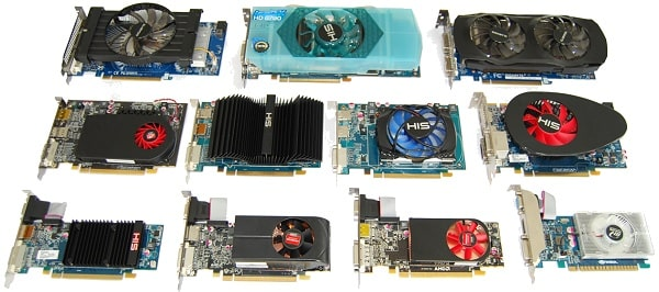 eleven graphics cards