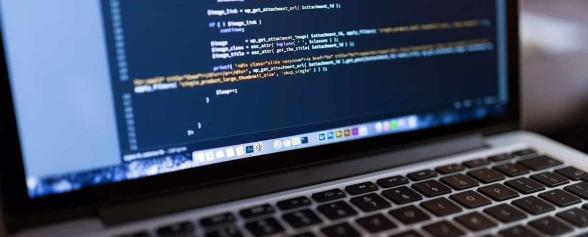 programming on a laptop