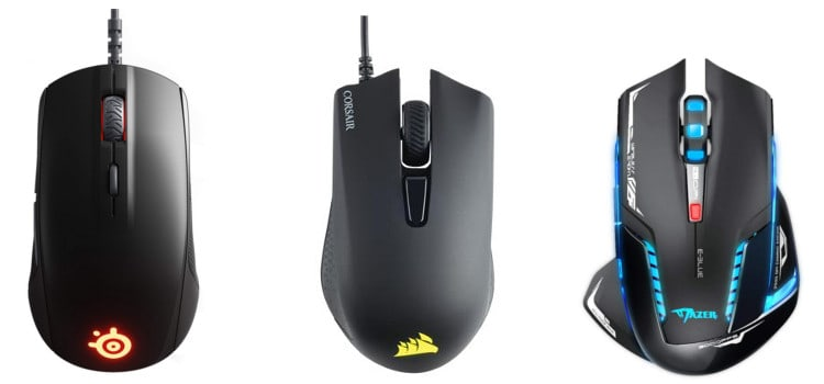three gaming mice