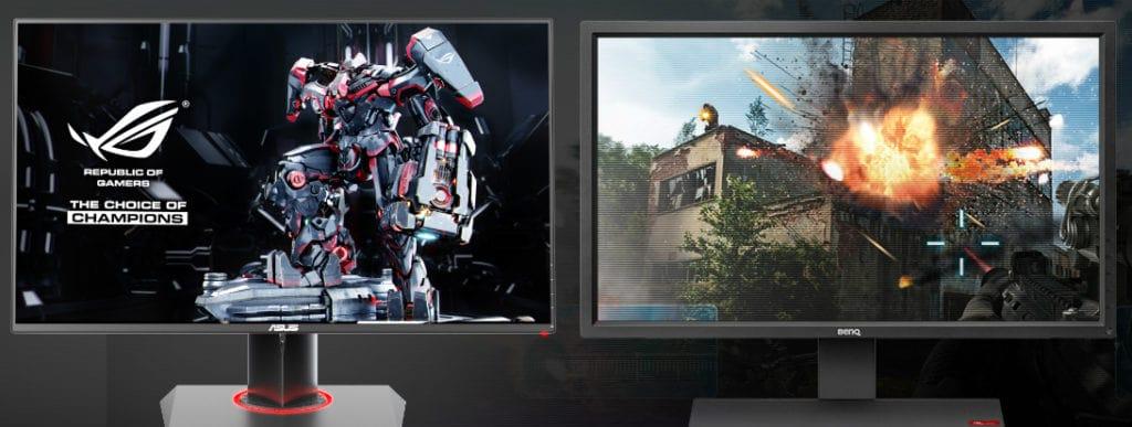 two monitors