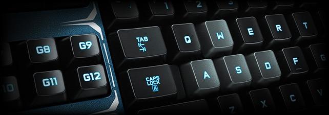 keyboard with 18 g keys