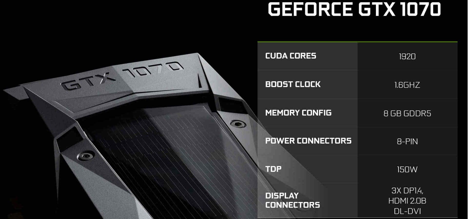 gtx 1070 specs